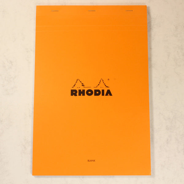 RHODIA ORANGE BLANK PAD 80 PAGES A4