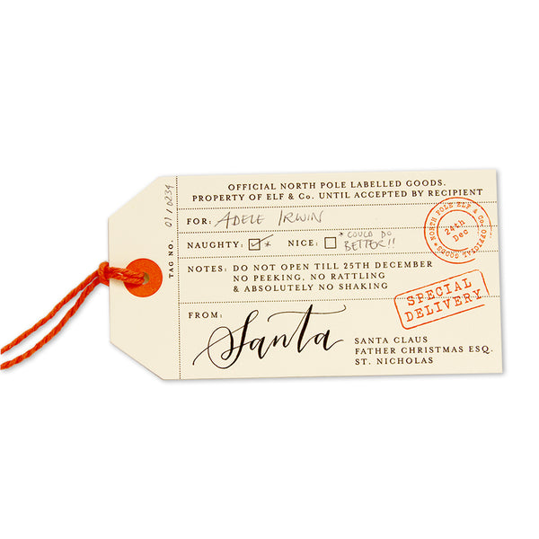 LUXURY SANTA GIFT TAGS