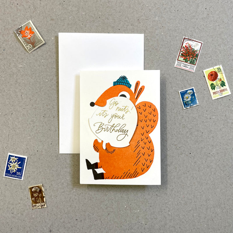 SECRET SQUIRREL - GO NUTS IT'S YOUR BIRTHDAY!