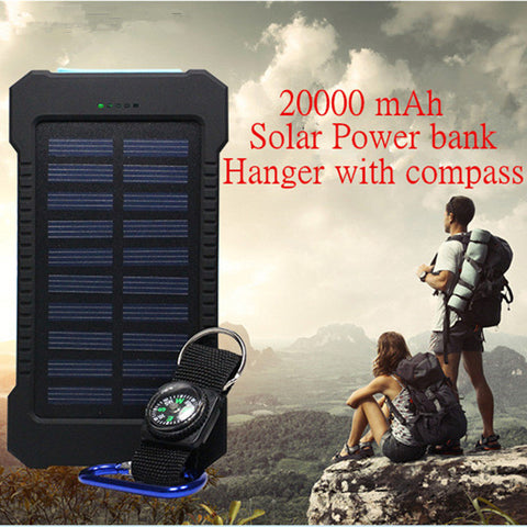 20000mAh Dual USB Waterproof Solar power bank - Weekend Crusaders