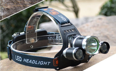 Rechargeable 10000Lm CREE XML T6+2R5 LED  Headlamp - Weekend Crusaders