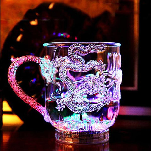 Led Drachen Glasbecher
