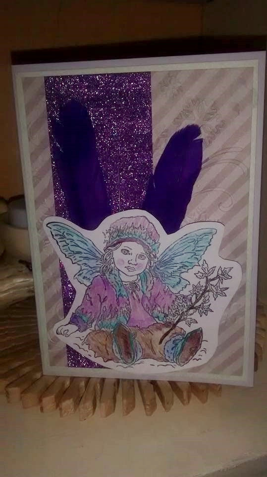 Winter to Spring Fairy Greeting card
