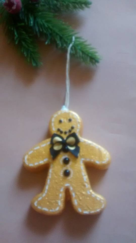 Polystyrene Gingerbread Man Christmas Tree Ornament