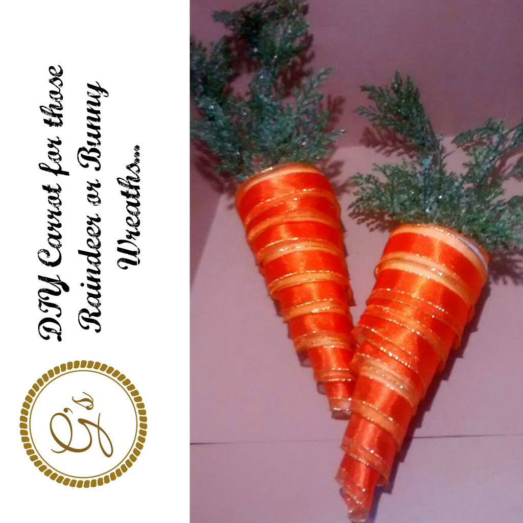 Make it yourself Carrot for those Reindeer or Rabbit Wreaths