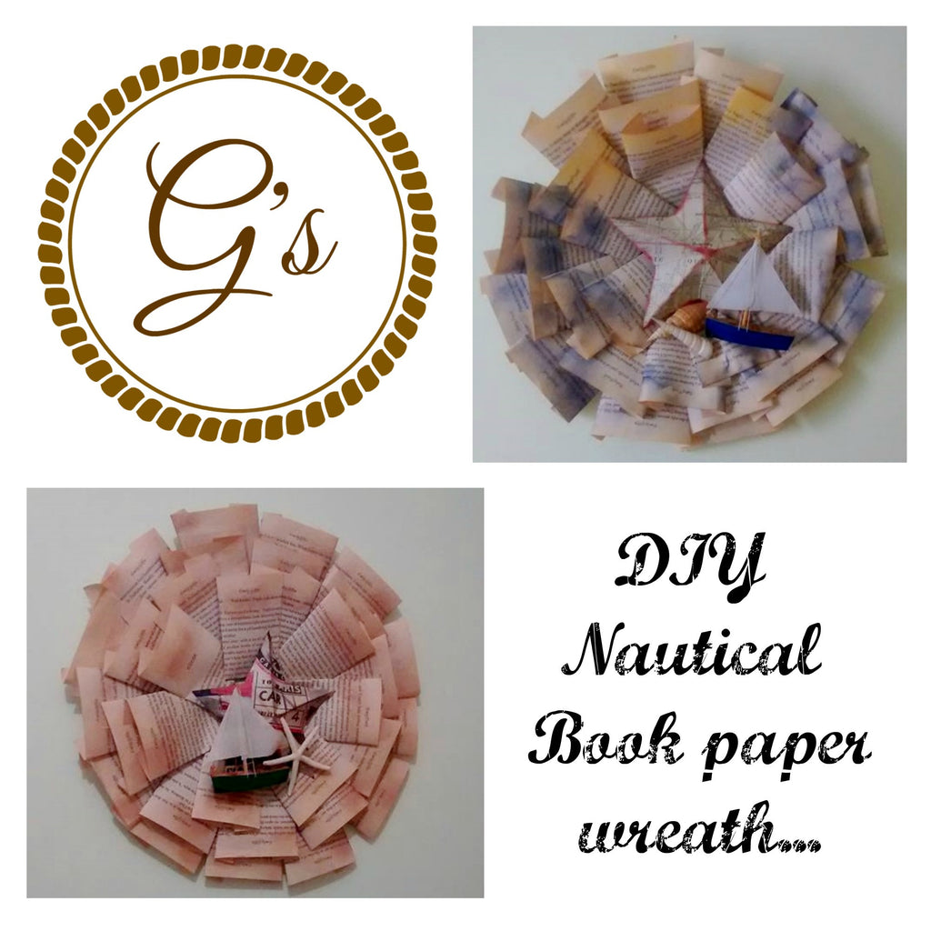 Upcycle Nautical Book Paper Wreath