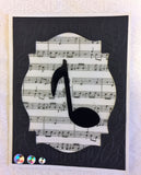 SALE: Round stencil: Music Note Quazer