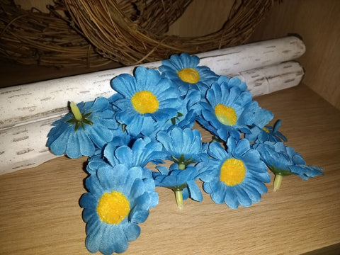 SALE: Artificial Daisy Flower Head Blue