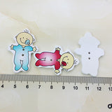Pack of 4 Wooden Baby Button