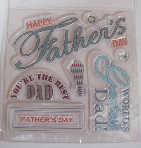 Papermania 7 Piece Fathers Day Stamp Set