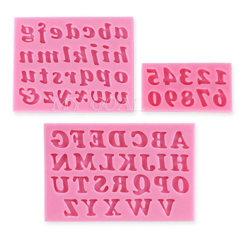 SALE: Mold: 3 Piece Alphabet/Number Set