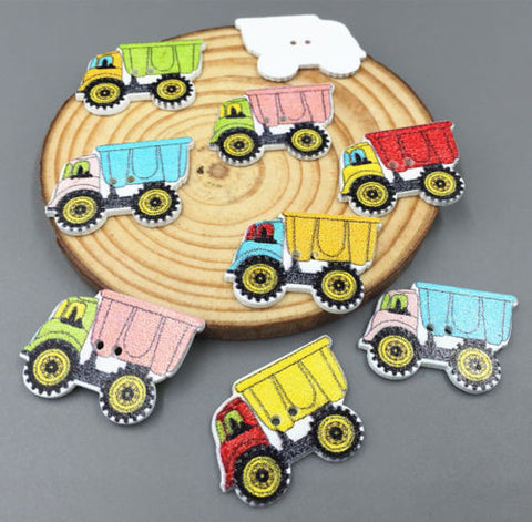 Pack of 4 Wooden Truck Button