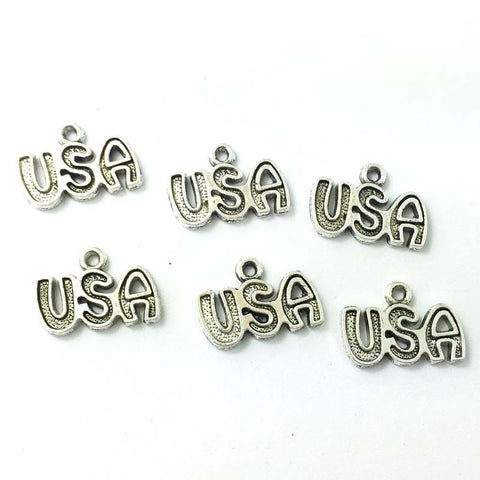 ((((4th OF JULY CRAFT)))) Tibetan Silver USA Embellishment