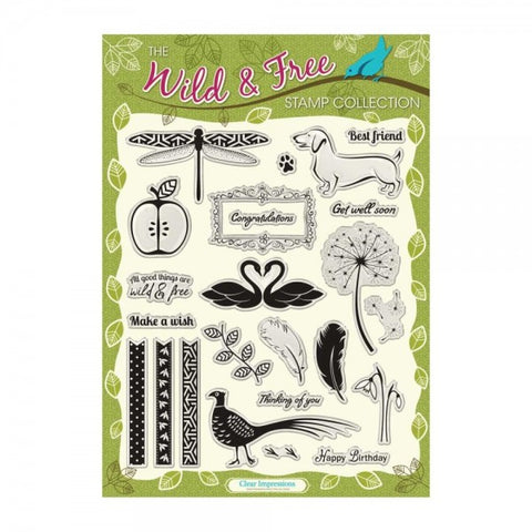 ((((A NEW ITEM)))) 22 Piece The Wild and Free Collection Stamp Set