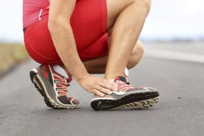 A sprained ankle is a common source of ankle pain.