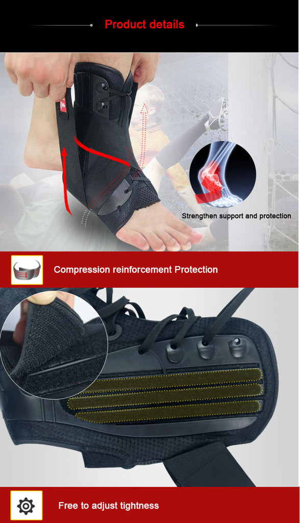 lace-up ankle brace for basketball