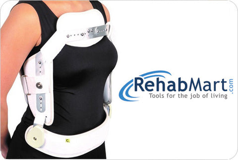 RehabMart Hyperextension 3 Point Brace