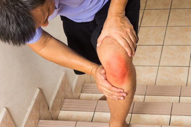 Ice can help ease pain from a ligament tear.