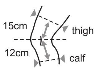 size guide of knee brae