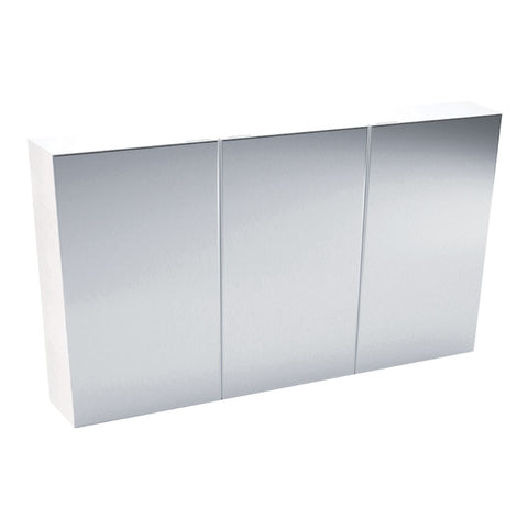 1200mm PENCIL EDGE Solid Shelves Mirrored Shaving Cabinet, Soft Close