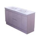 1500 Finger Pull Vanity, Double Bowl Slimline Ceramic Top