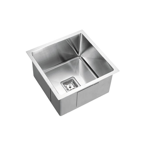 Single Bowl Square 380mm Under/Over/Flush Mount Stainless Steel Sink