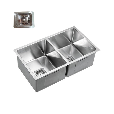 Double Bowl 775 Under/Over/Flush Mount Stainless Steel Sink