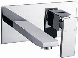 Quadra Square Wall Basin/ Bath Mixer & Aerated Spout