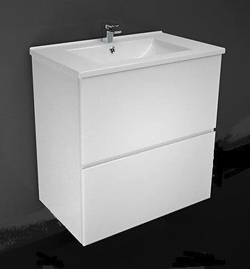 750 ALL DRAWER Vanity, Wall hung, Single Ceramic Top