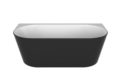 ALEGRA 1700 Back-to-Wall Freestanding Bath - BLACK