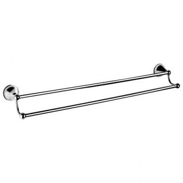DALLAS Double Towel Rail 800mm - Chrome/ White/ Ivory