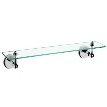 DALLAS Glass Shelf 500mm - Chrome/ White/ Ivory