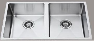 Double Bowl Square Undermount 910mm Stainless Steel