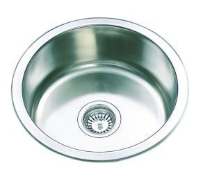 Single Bowl Round 430 diameter x 170 Deep mm Stainless Steel Sink