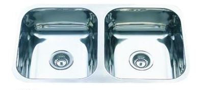 Double Bowl Undermount 785mm Stainless Steel Sink