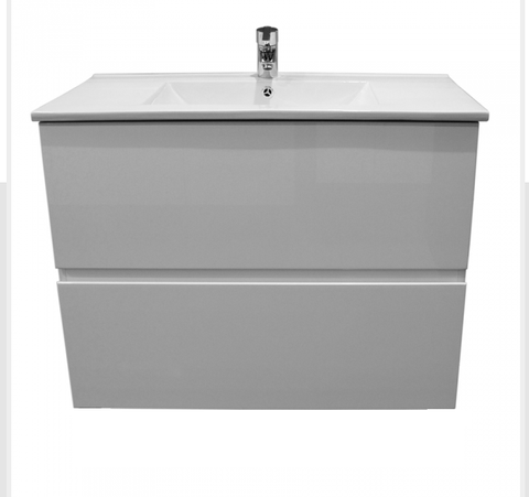 900 ALL DRAWER Vanity, Wall hung, Single Ceramic Top