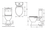 CLOSE COUPLED CIVIC PLUS S & P Trap Toilet Suite