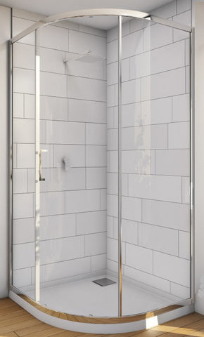 Floriano Shower Screen CURVED 1000 x 1000 x 2000H mm