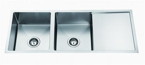 Double Bowl & Drainer Under/Over/Flush Mount 1150mm SSteel