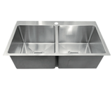 Double Bowl 775 1TH Under/Over/Flush Mount Stainless Steel Sink