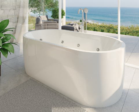 Elisi Freestanding Spa 1700 Contour 14 Jets Better Bathrooms