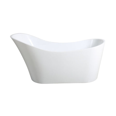 HI-BACK SLIMLINE 1700 Freestanding Luxury Bath - White