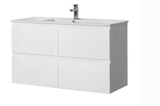 1200 KIVA ALL DRAWER WALL HUNG Vanity, Single Ceramic Top