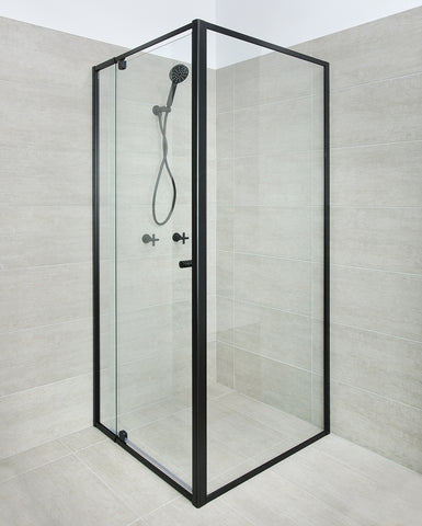 BLACK Framed Shower Screen 1200 (door) x 900 x 1950H mm
