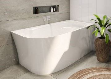 Natalia 1500 Back To Wall Corner Freestanding Bath