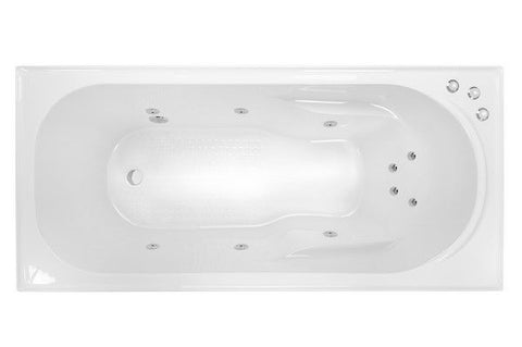 PRIMA 1790 SPA & SHOWER BATH - Santai 10 Jets White
