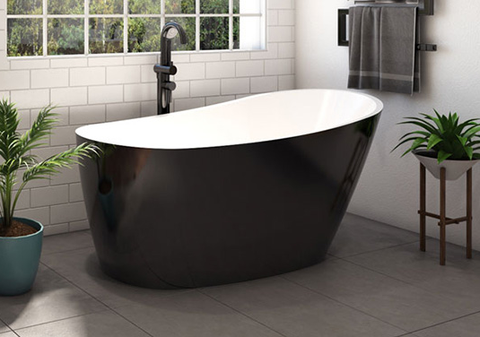 Piccolo 1500 Freestanding Bath BLACK