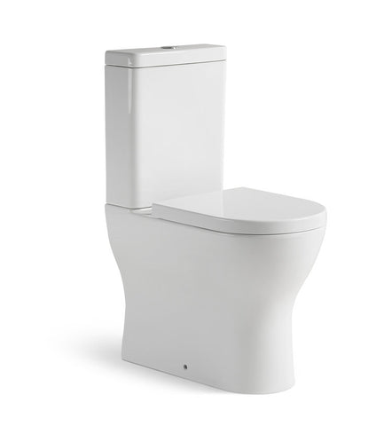 Positana Back to Wall Rimless Extra Height Toilet suite, Soft close seat