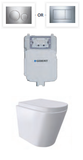 Wall Face RENEE Rimless Geberit In-Wall Cistern Toilet, Soft close seat