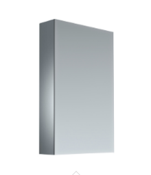 450mm PVC PENCIL EDGE, GLASS SHELVES Mirror Shaving Cabinet, Soft Close,